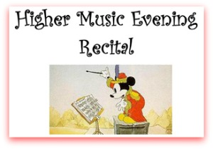 Higher Music Evening Recital